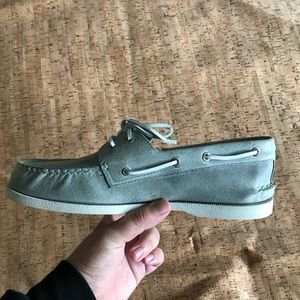 Sperry Shoes - Grey Sperry 2 eye Richtown Boat Shoe